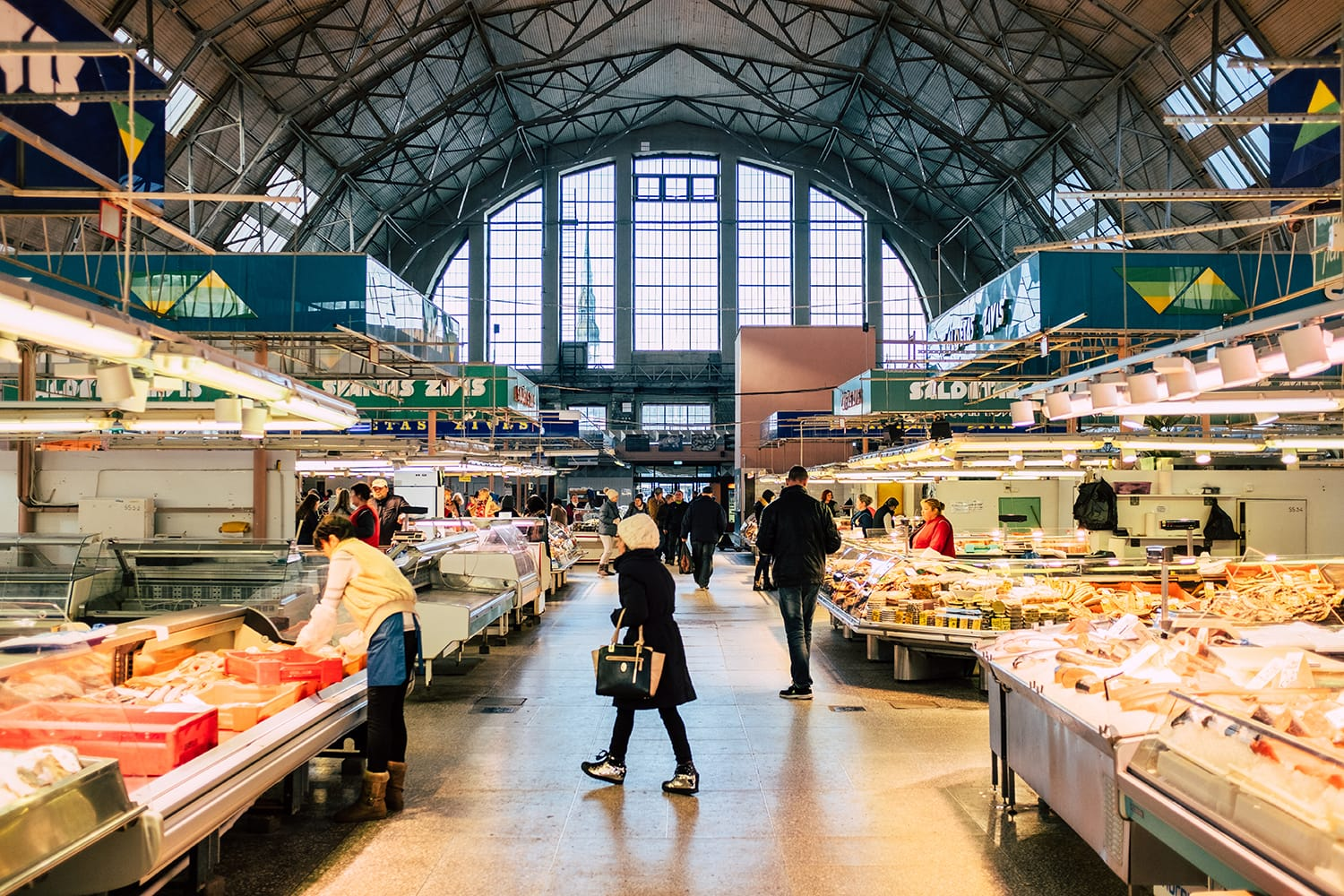 Central Market in Riga, Latvia