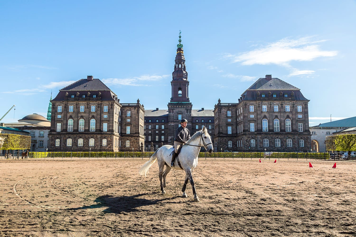 The royal stables at the Christiansborg palace in Copenhagen, Denmark