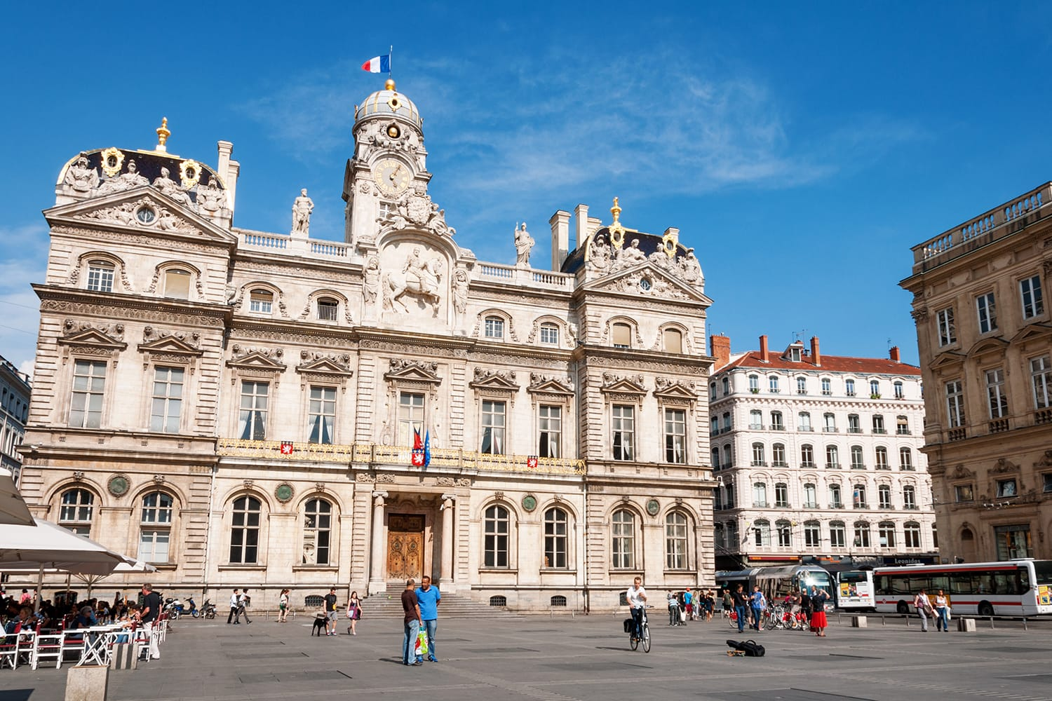 City Hall on Place des Terreaux in Lyon, France