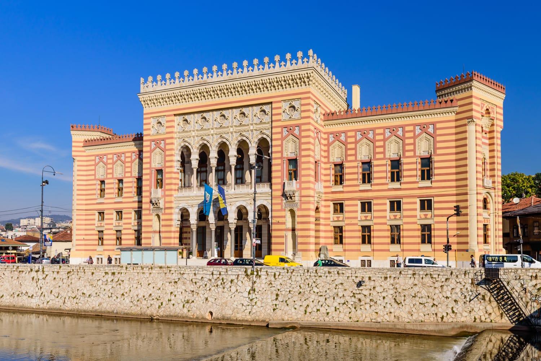 City hall in Sarajevo, Bosnia and Herzegovina