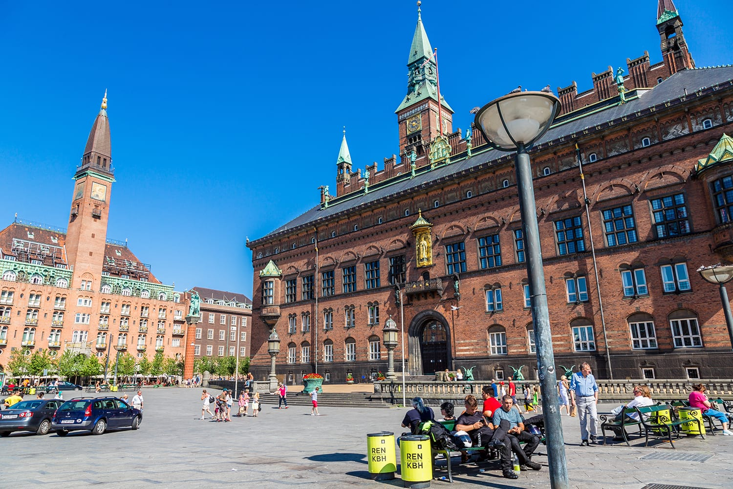 Copenhagen City Hall is the headquarters of the municipal council as well as the Lord mayor of the Copenhagen, Denmark