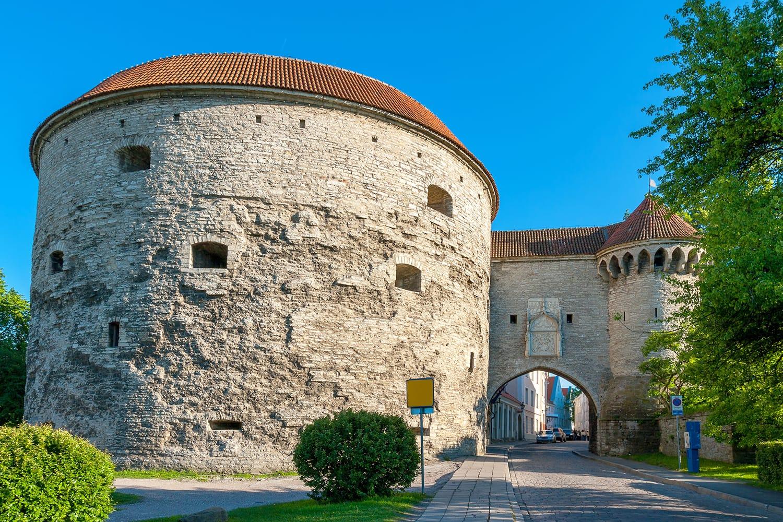 Great Coastal Gate and Fat Margaret tower. Tallinn, Estonia