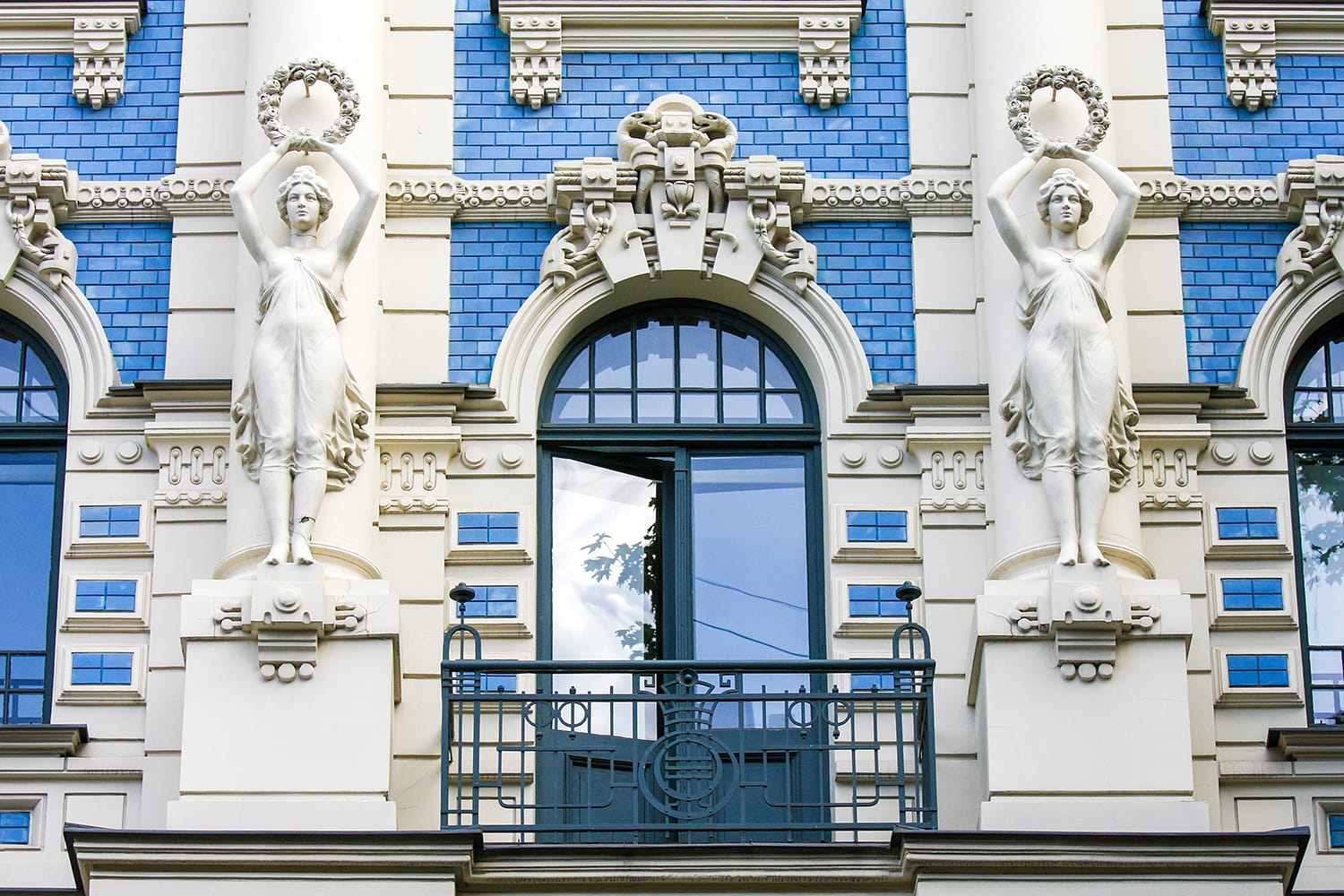 Jugendstil house in the Alberta street in Riga, Latvia