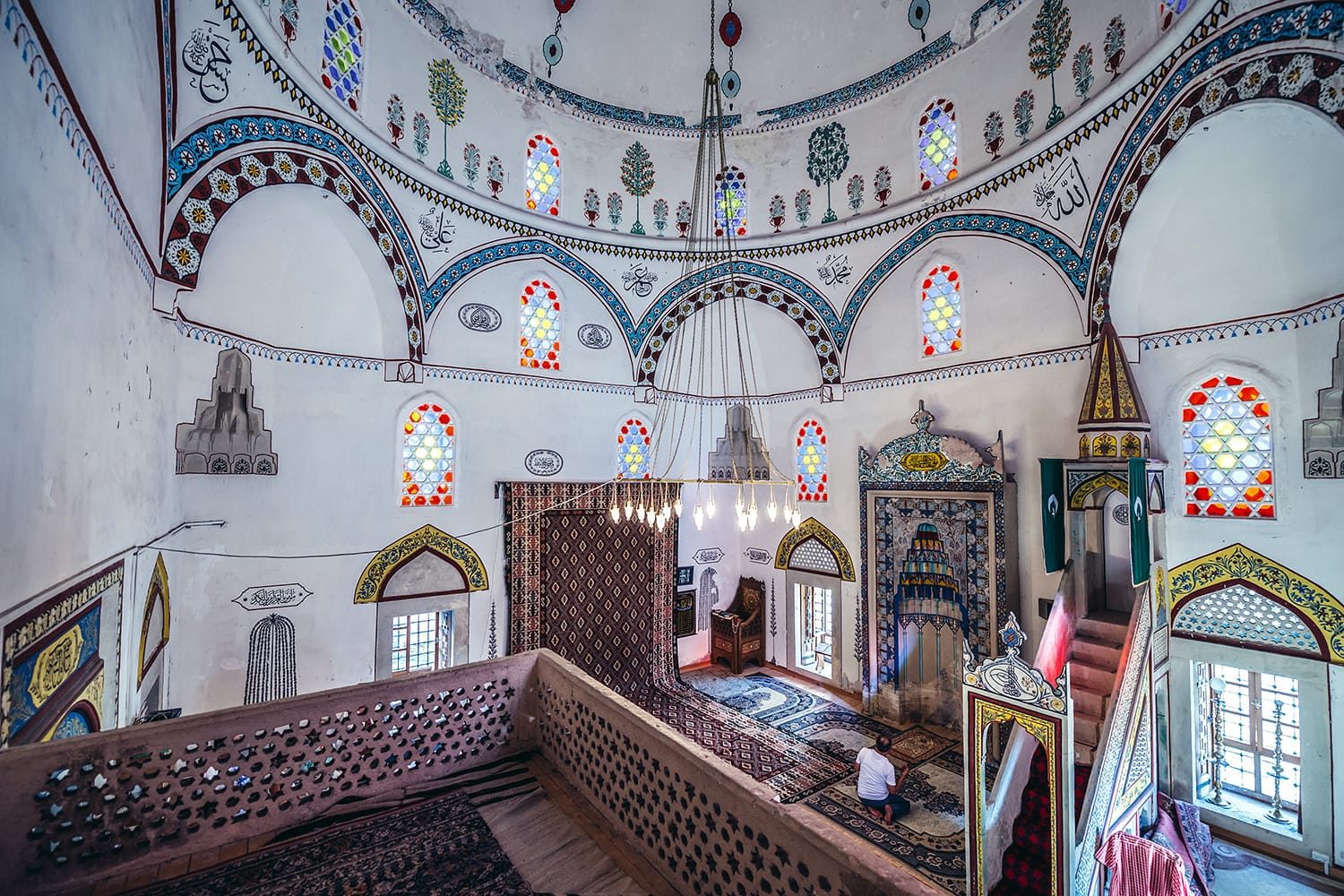 Interior of 17th century Koski Mehmed Pasha Mosque in Mostar, Bosnia and Herzegovina