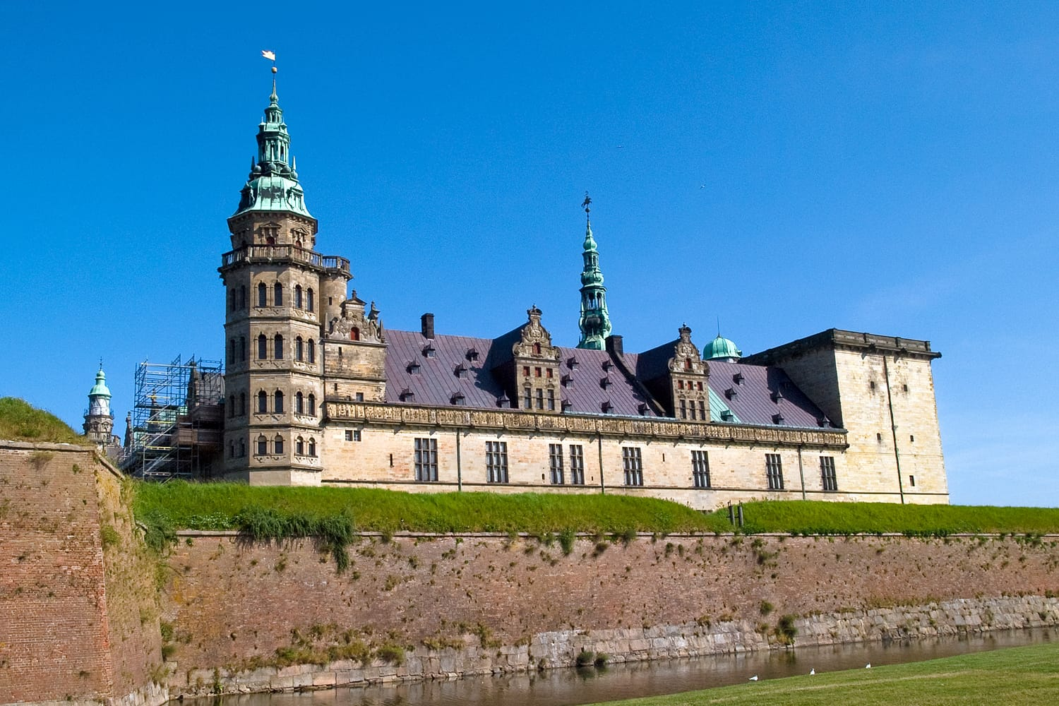 Kronborg Castle of Hamlet by William Shakespeare Elsinore Helsingor Denmark