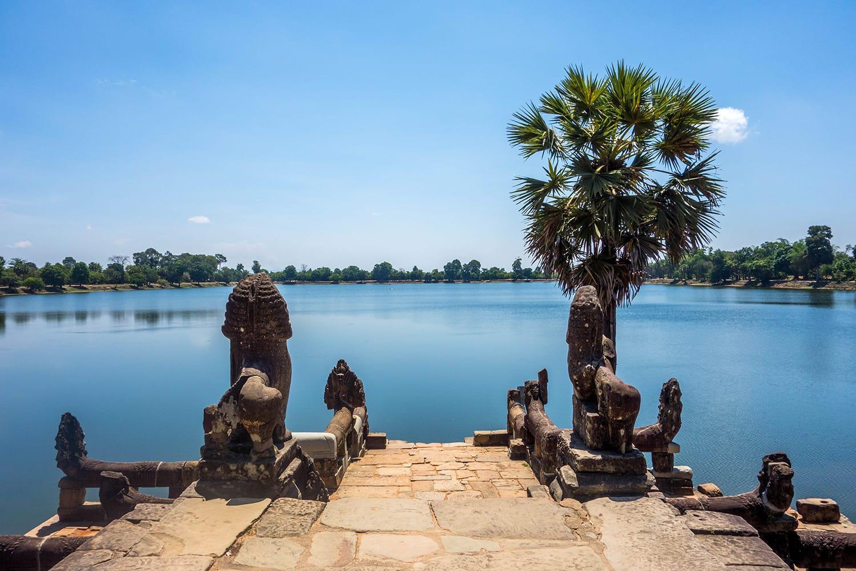 Srah Srang Lake at Angkor Wat in Cambodia