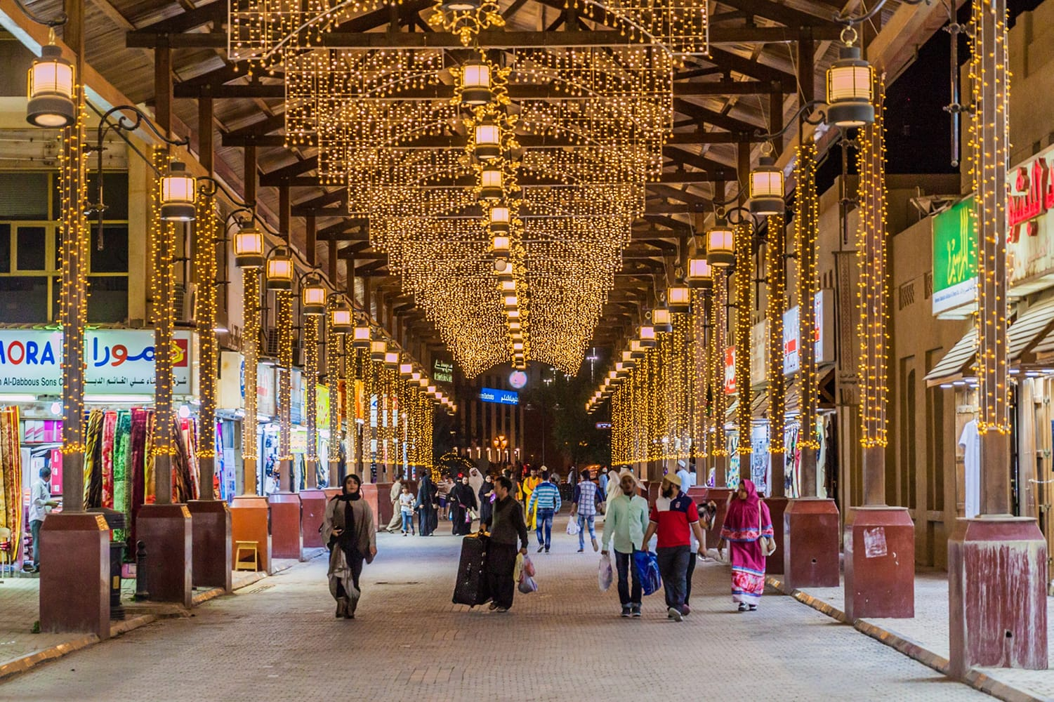 Shopping alley at the central Souq Al Mubarakiya in Kuwait City