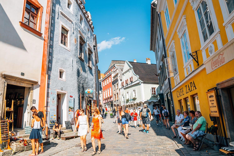 Old town in Cesky Krumlov, Czech Republic