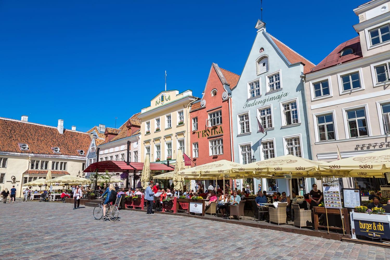 Tallinn Old Town in a beautiful summer day, Estonia