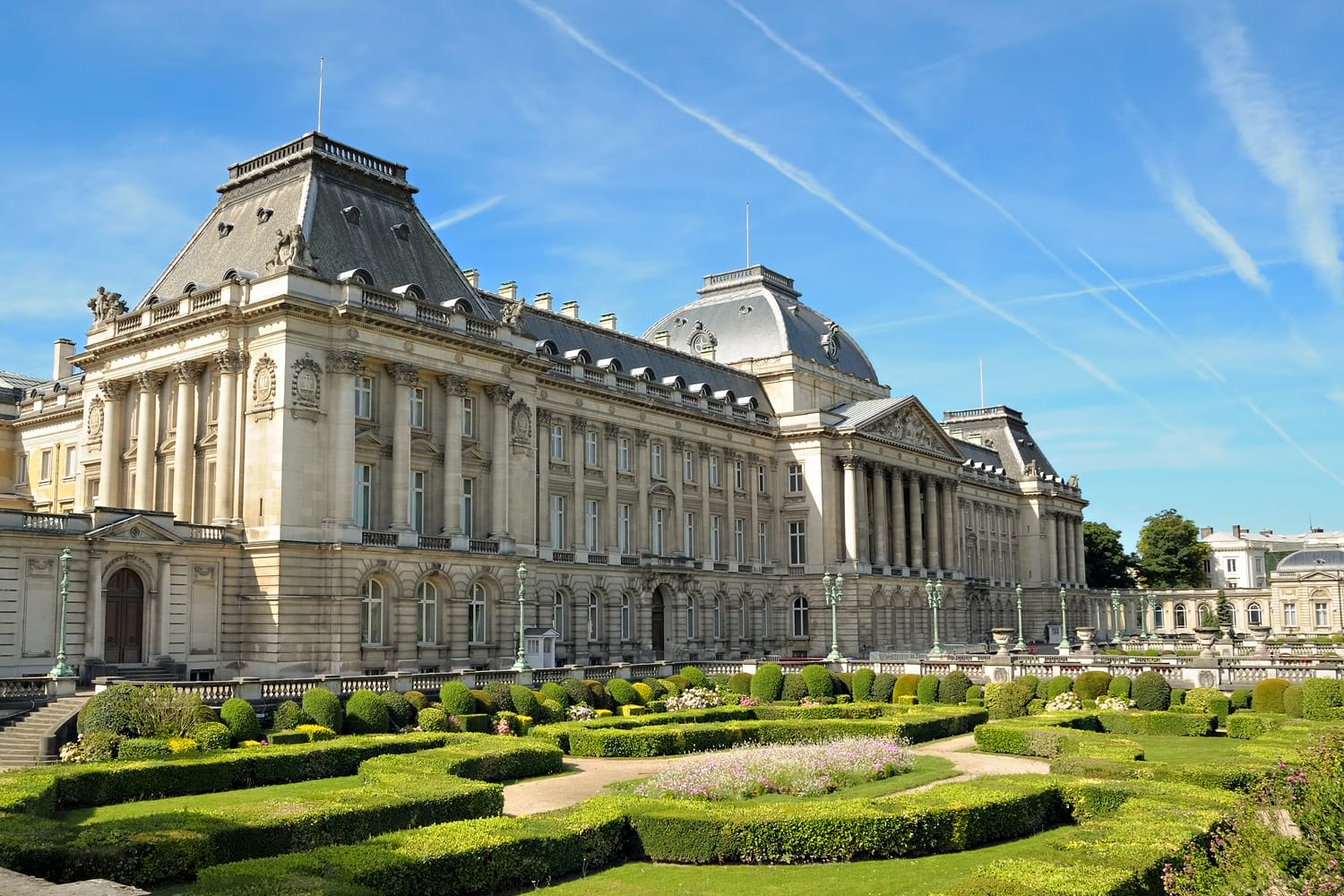 Palace of the king in historical center of Brussels, Belgium