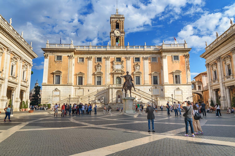 Piazza del Campidoglio in Capitoline Hill, Rome, Italy