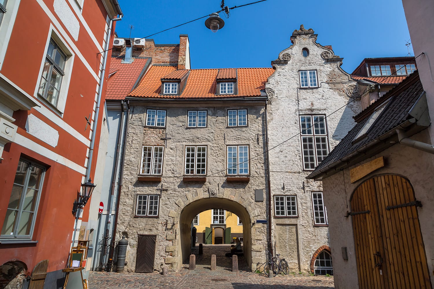 wedish gate in the old city of Riga in a beautiful summer day, Latvia