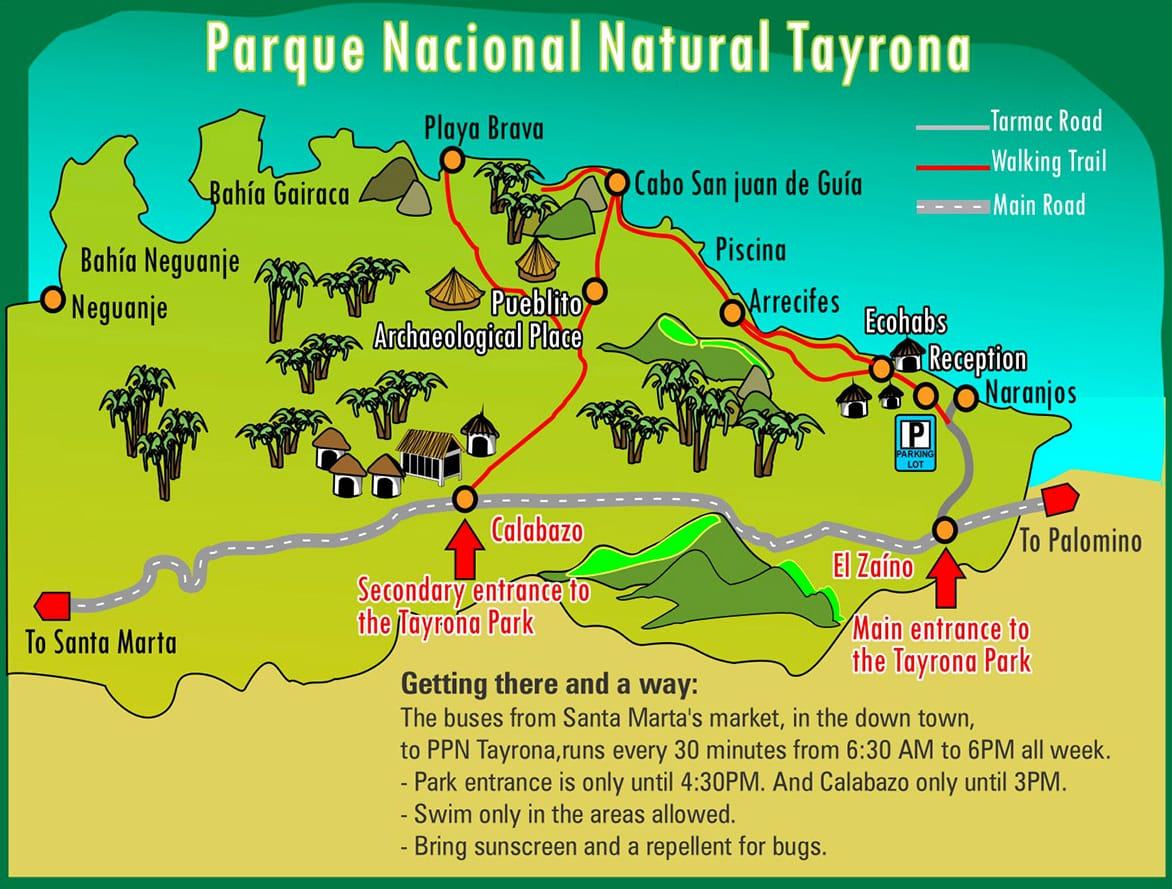 Tayrona National Park Map
