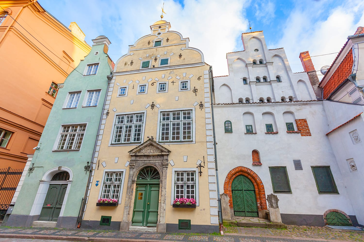 Three Brothers Houses in Riga, Latvia