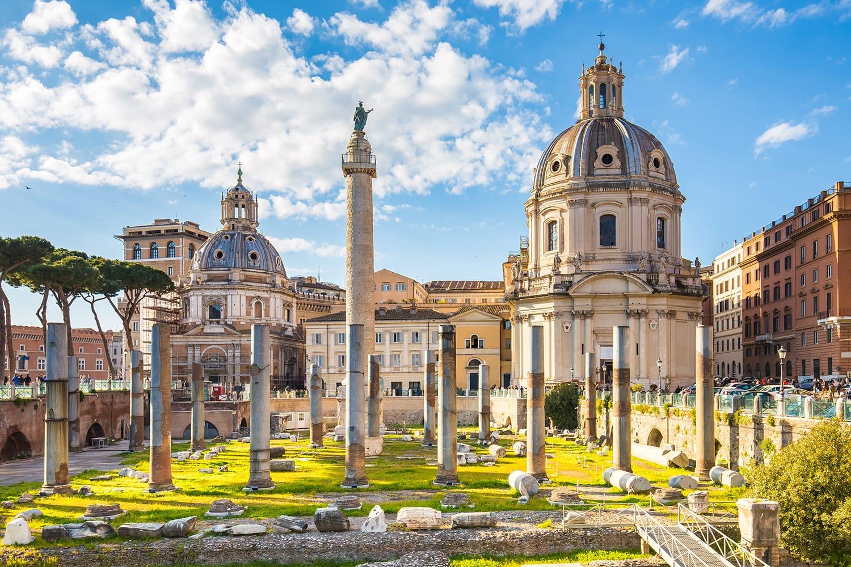The Trajan's Forum in Rome, Italy.