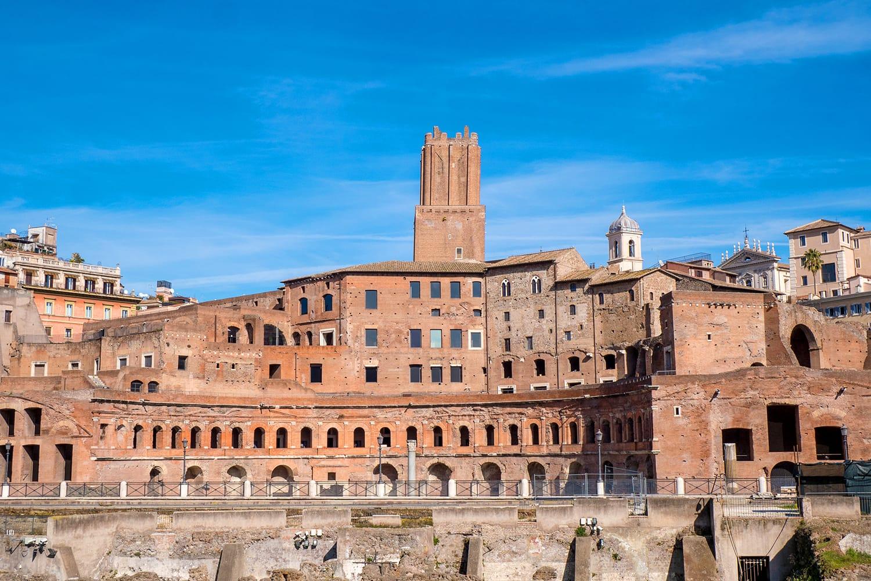 Trajan's Market landmark of Rome, Italy
