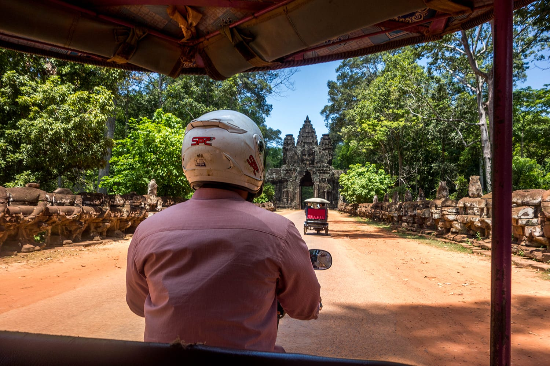 Tuk tuk at Angkor Wat in Cambodia