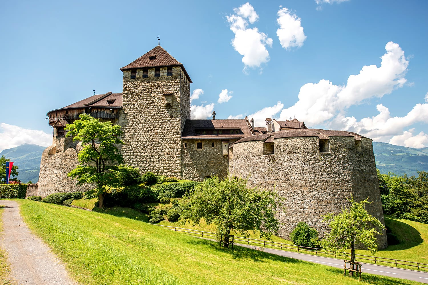 Landscape view on Vaduz castle in the capital of Liechtenstein. This castle is the palace and official residence of the Prince of Liechtenstein