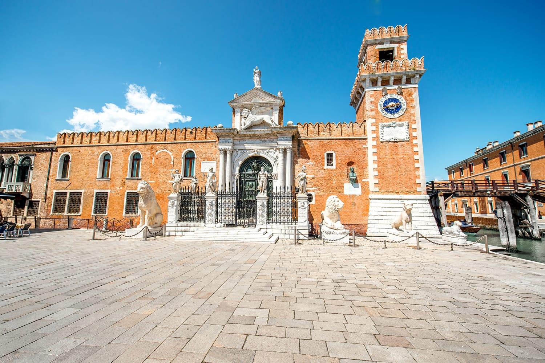 Venetian Arsenal in Castello region in Venice, Italy