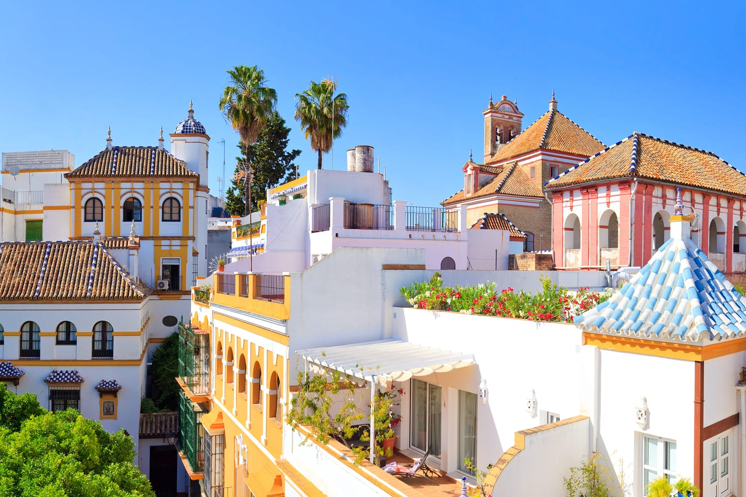Rooftops of Seville, Spain
