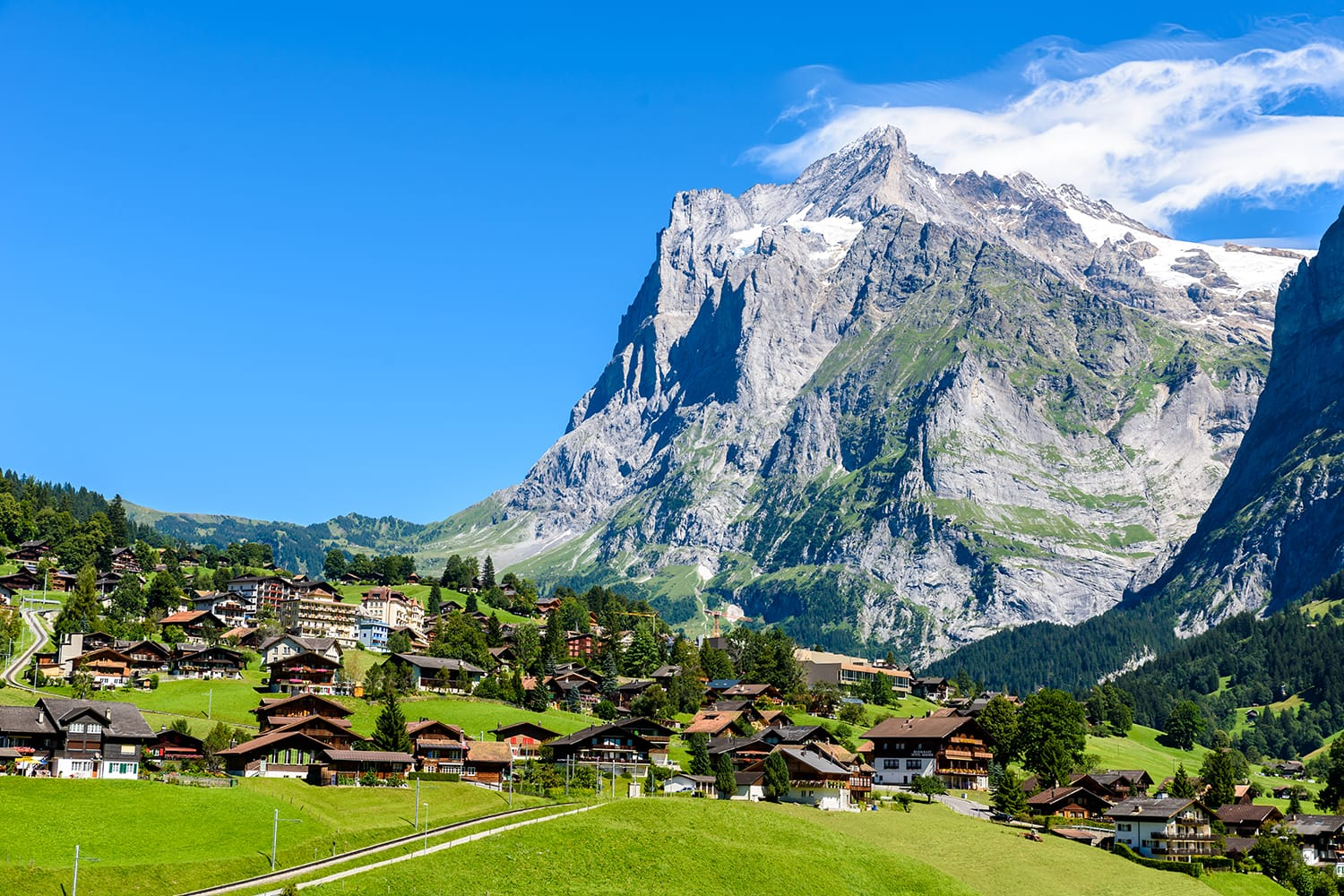 Grindelwald - beautiful village in mountain scenery - Switzerland