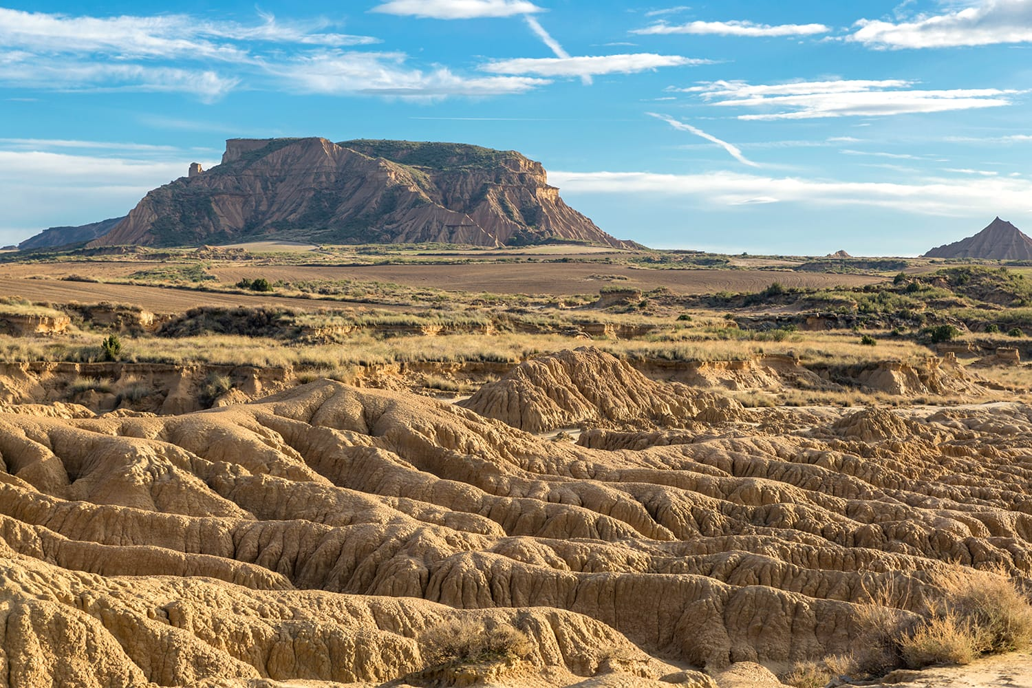 Bardenas Reales natural park, in Navarra, Spain