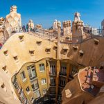 Casa Mila in Barcelona, Spain