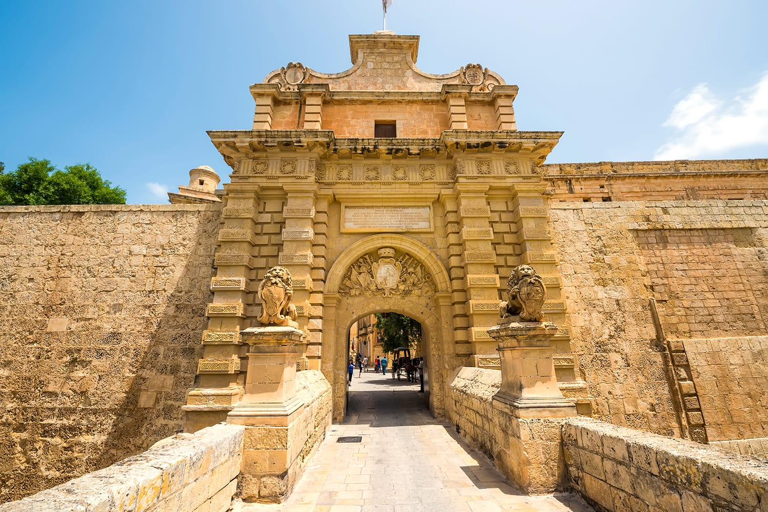 City gate in Mdina, Malta