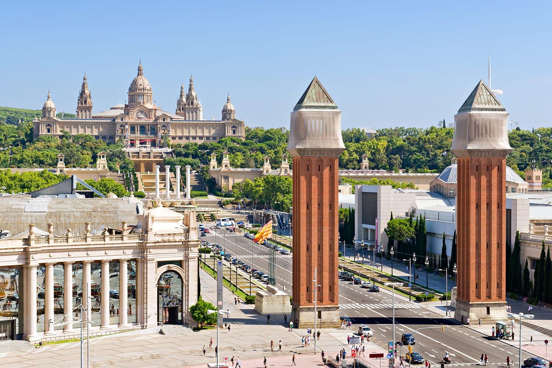Espanya Square in Barcelona, Spain