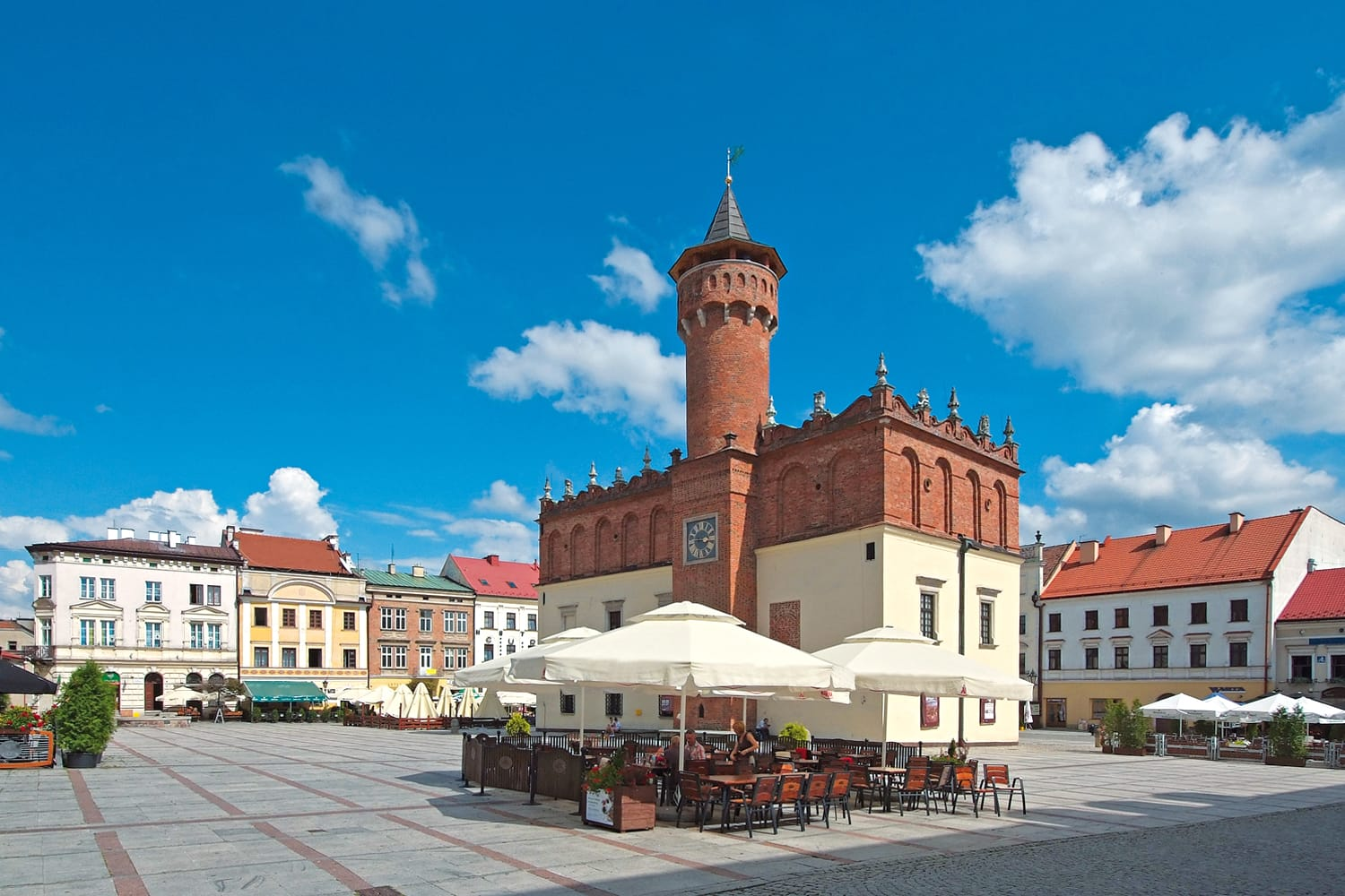 Market Square in Tarnow, Poland