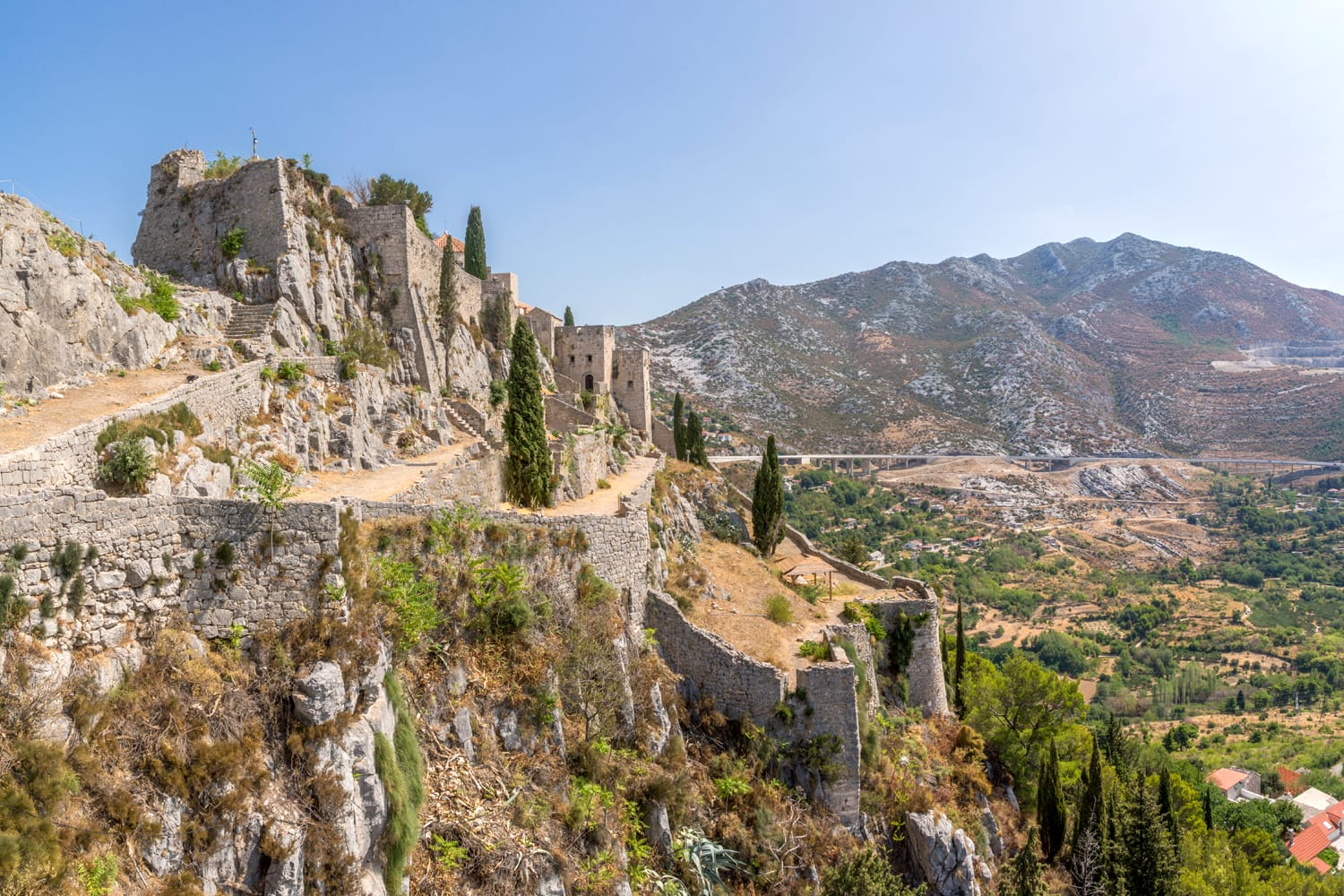 Ruins of the medieval fortress of Klis, Croatia