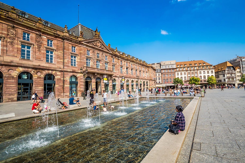 Place Kleber in Strasbourg, France