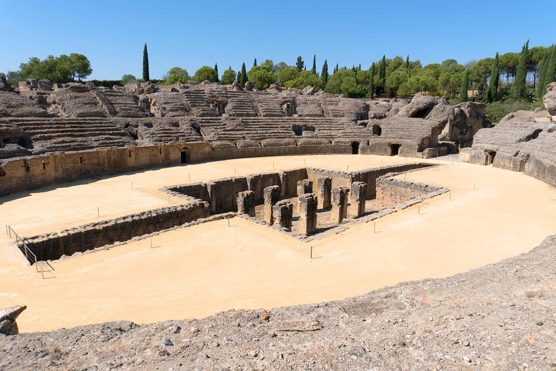 Roman Amphitheater Italica Spain