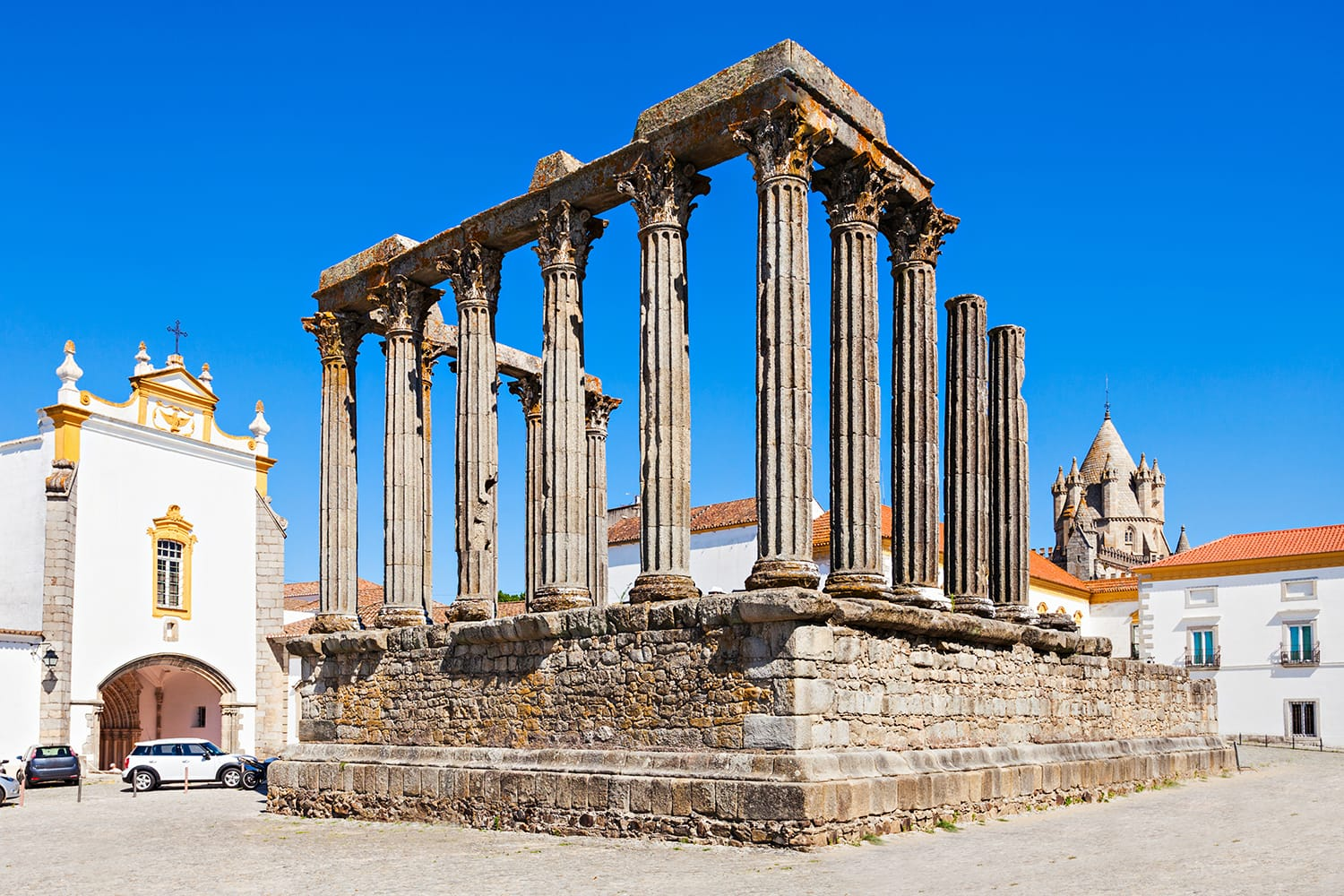 The Roman Temple of Evora (Templo romano de Evora), also referred to as the Templo de Diana is an ancient temple in the Portuguese city of Evora