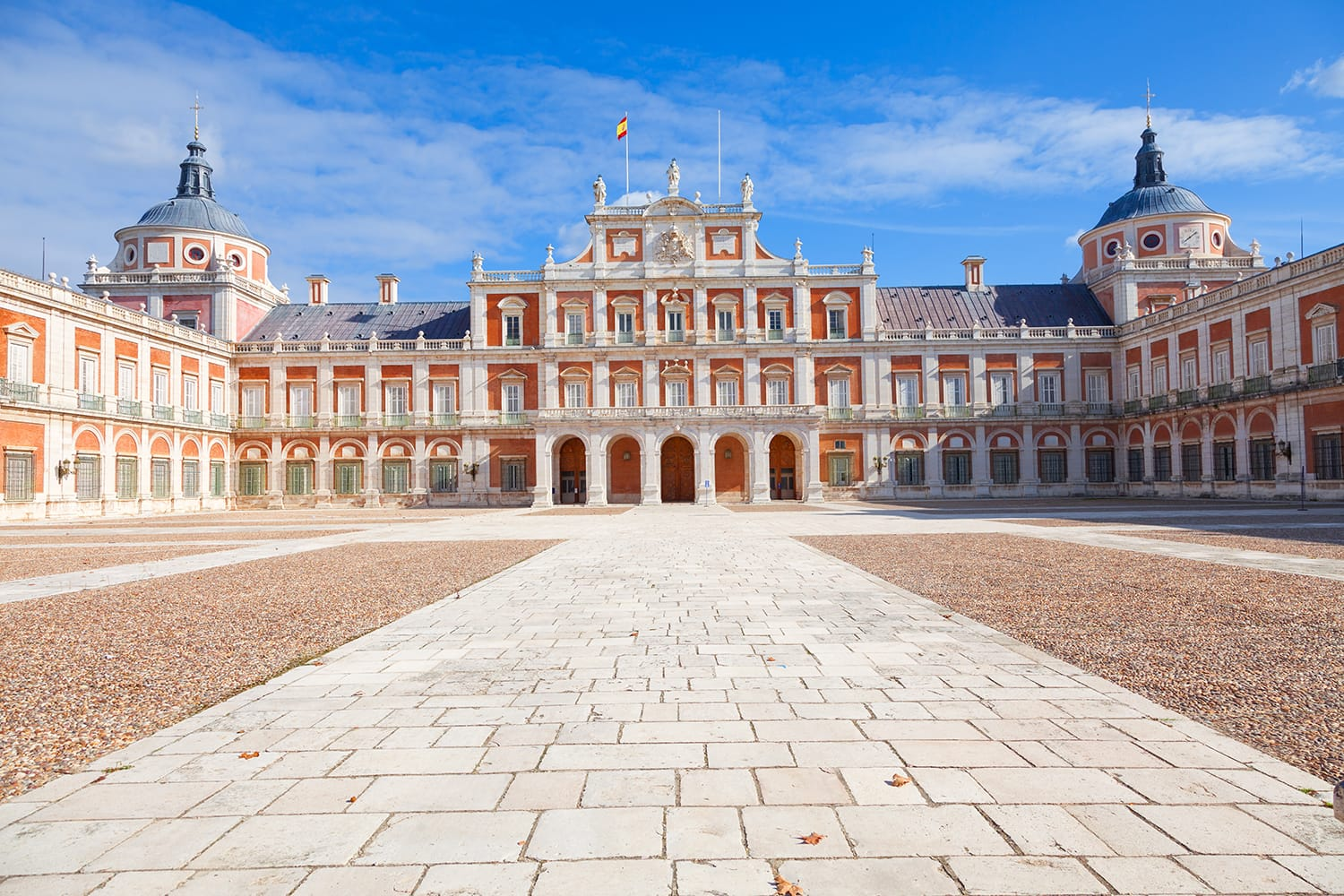 Royal Palace of Aranjuez, main court . Community of Madrid, Spain. It is a residence of the King of Spain open to the public