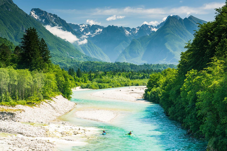 Soca River Valley in Slovenia