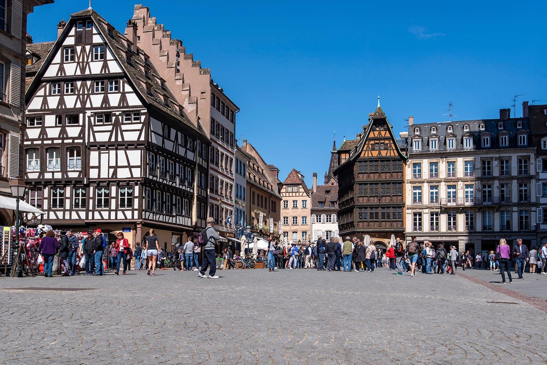 Main square in Strasbourg, France