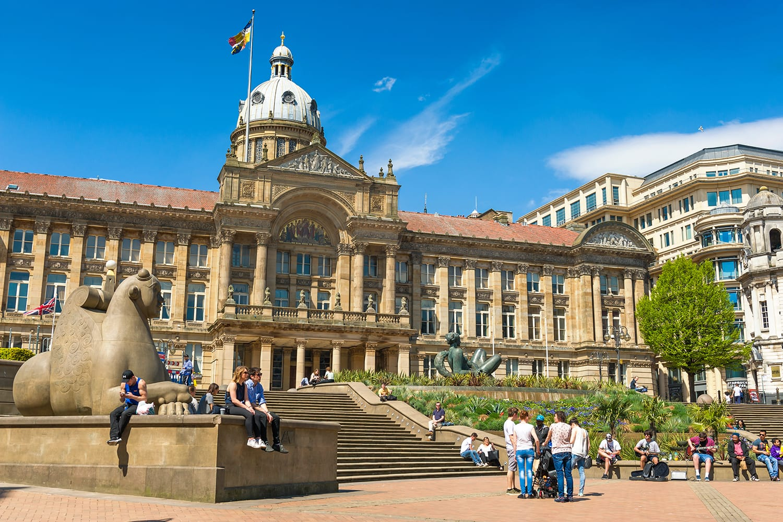 Victoria Square in Birmingham, West Midlands, United Kingdom
