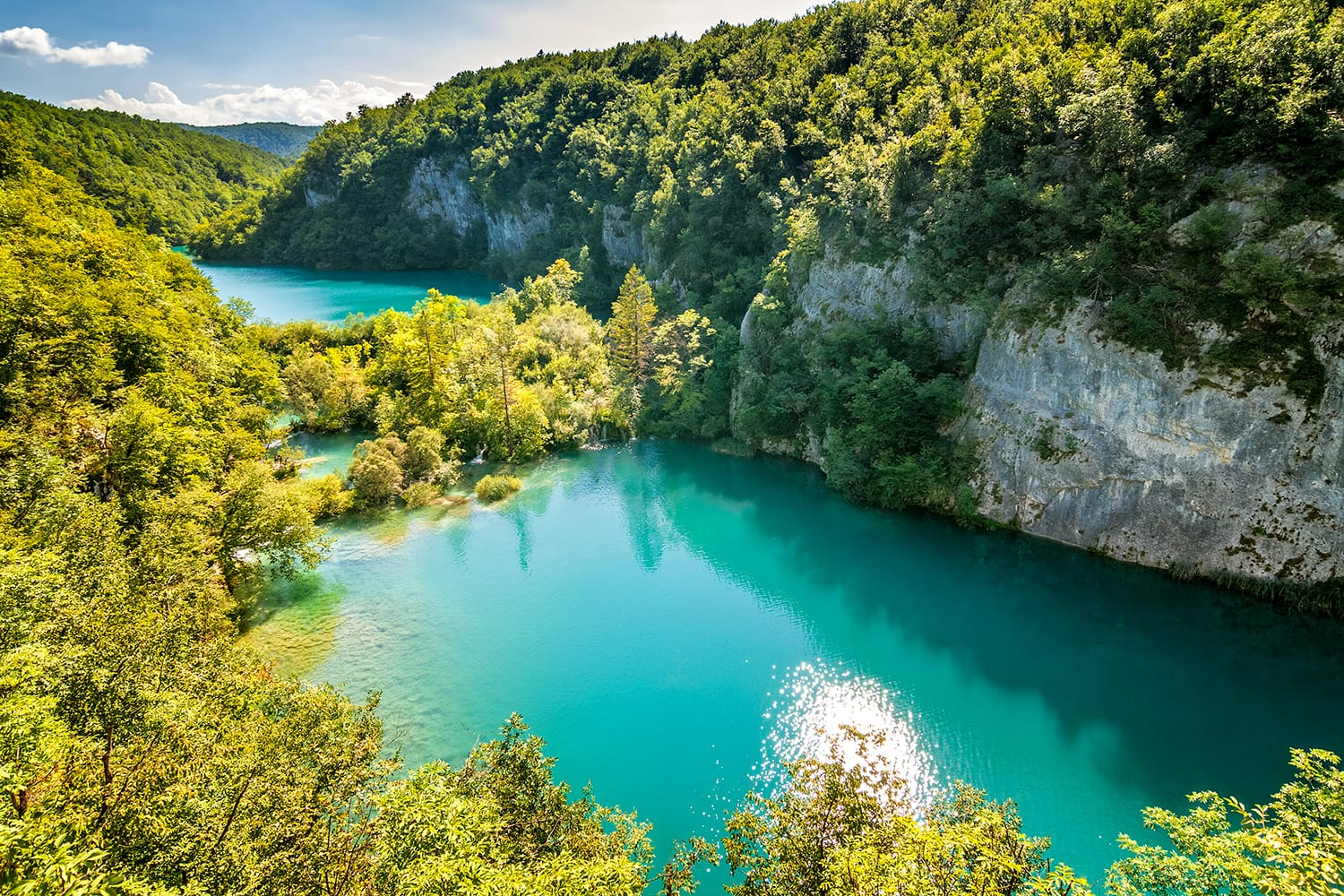 Breathtaking view of the Plitvice Lakes National Park in Croatia