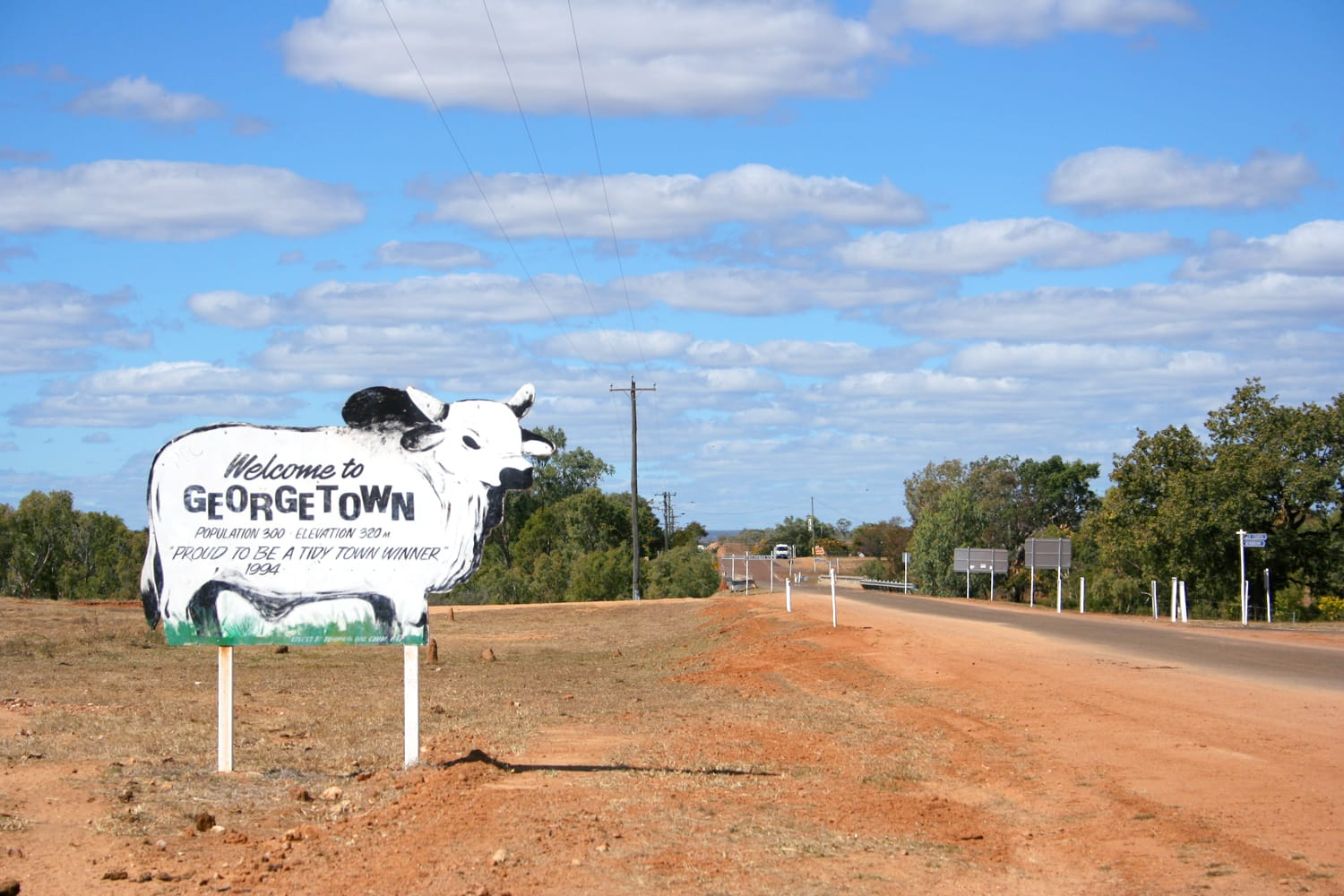 Cow sign in Georgetown, Australia