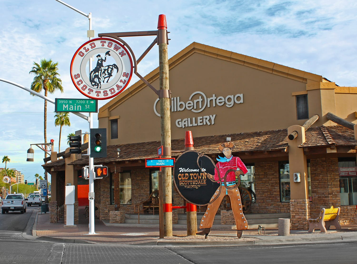 Iconic cowboy in Old Town Scottsdale