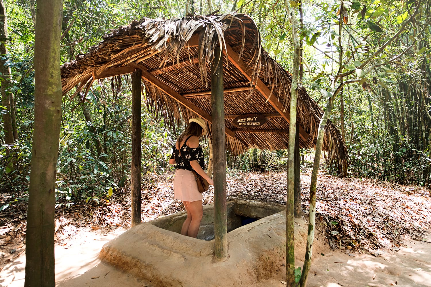 Famous Cu Chi tunnels in Ho Chi Minh City, Vietnam