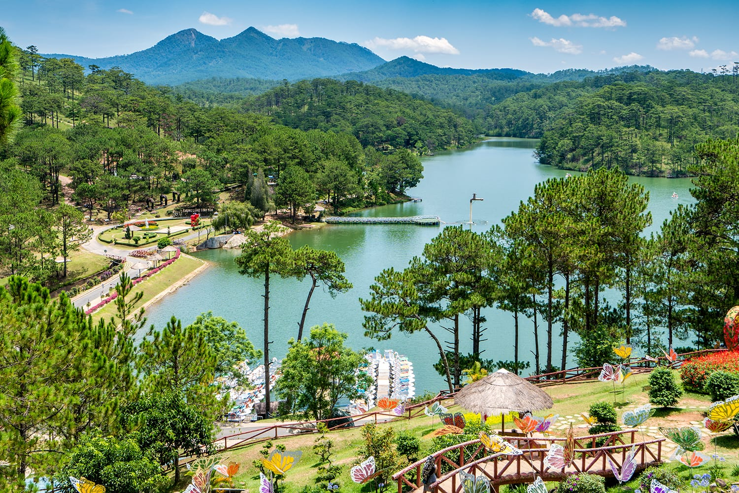 Love valley in Dalat Vietnam is one of the most romantic sites of Dalat city, with many deep valleys and endless pine forests