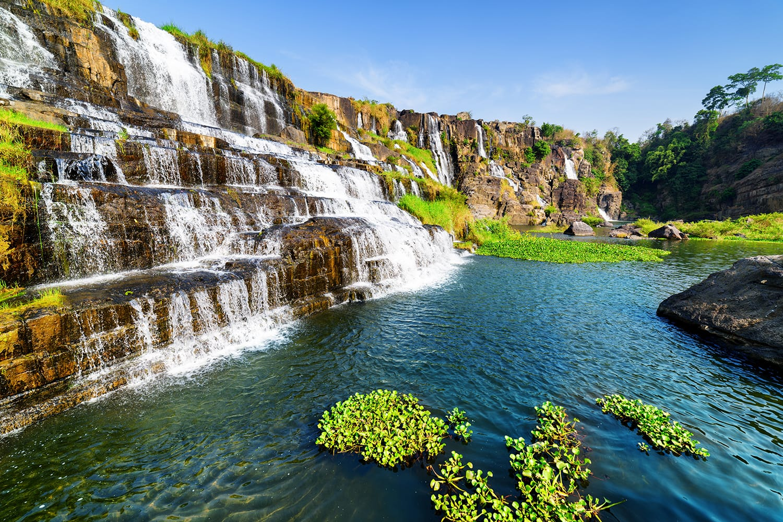 Pongour waterfall near Dalat, Vietnam