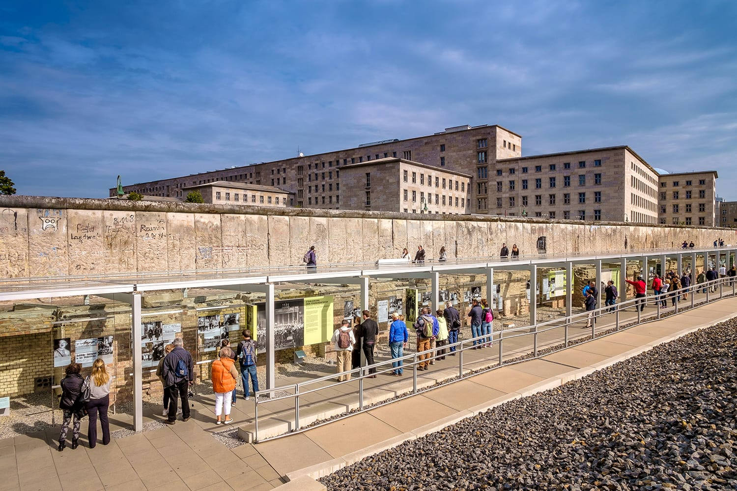 Berlin Wall remains and museum, documentation centre, Topography of Terror Foundation