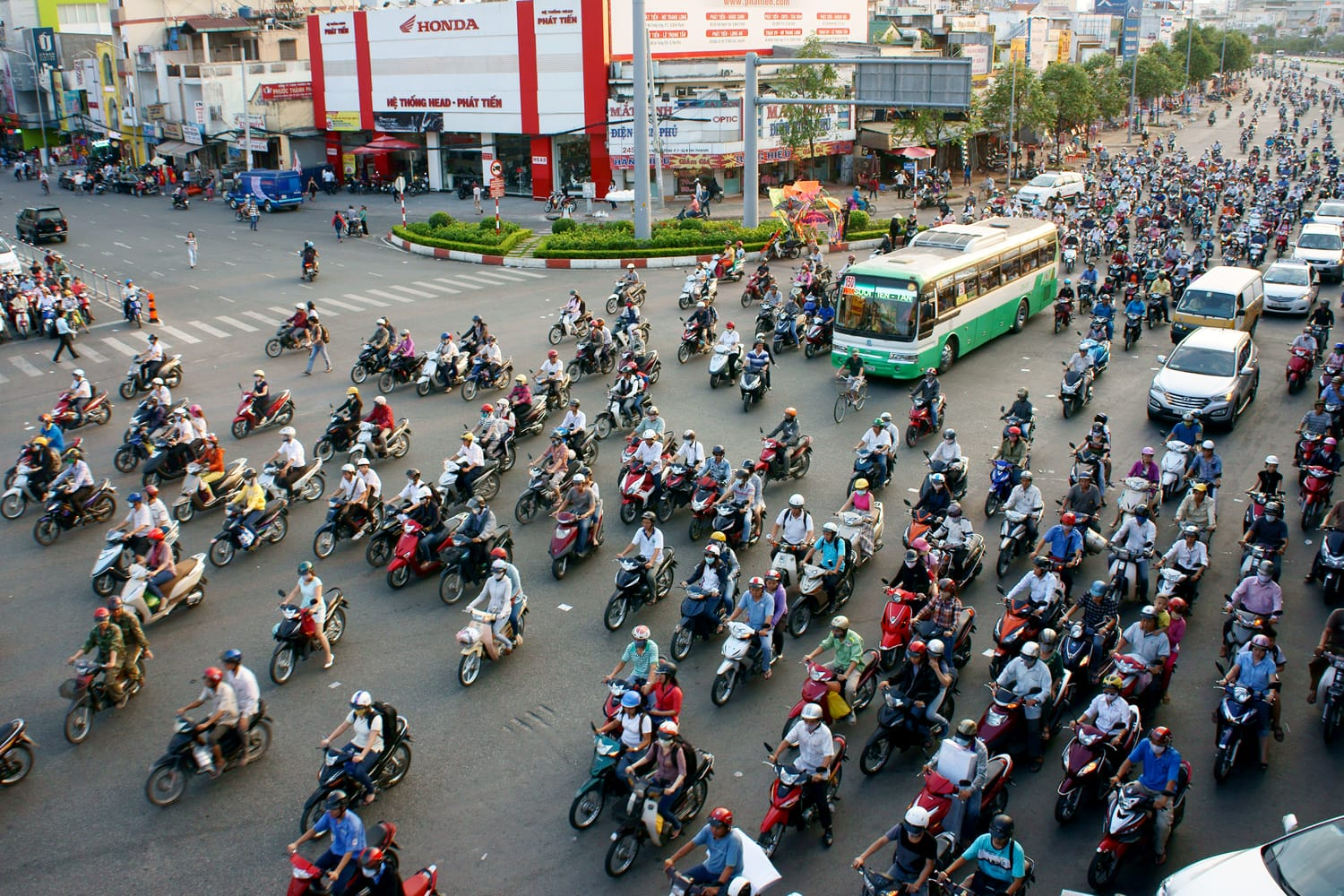 Traffic jam in Ho Chi Minh City, Vietnam