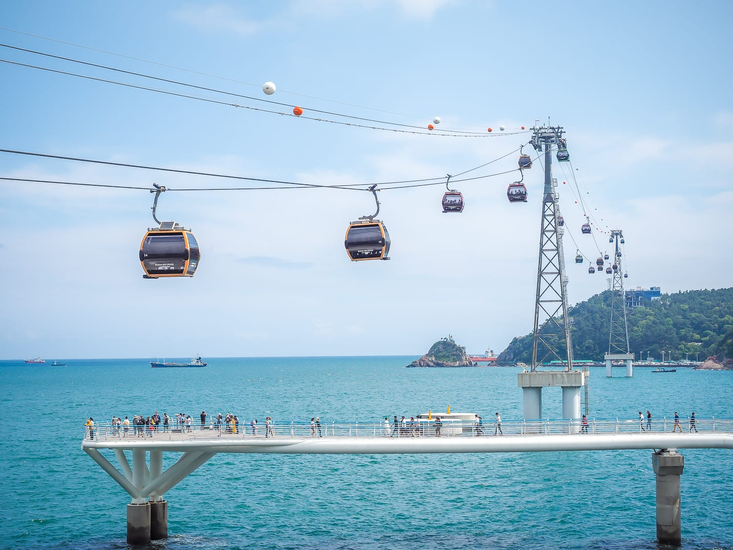 Songo Cable Cloud Walkway in Busan, South Korea