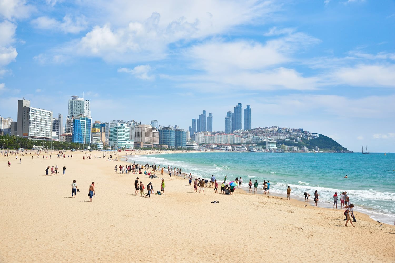 Haeundae beach is Busan's most popular beach because of its easy access from downtown Busan. And It is one of the most famous beaches in South Korea.