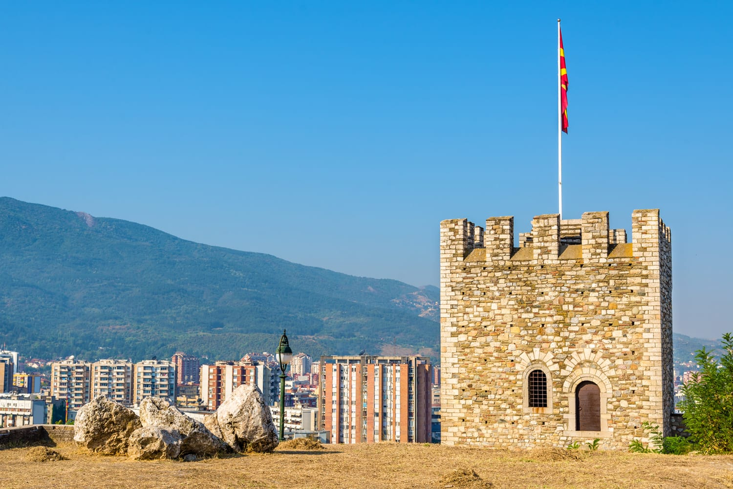 View of Skopje from the fortress, Macedonia