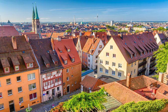 Aerial view of Nuremberg, Germany